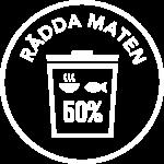 Radda Maten logo vit